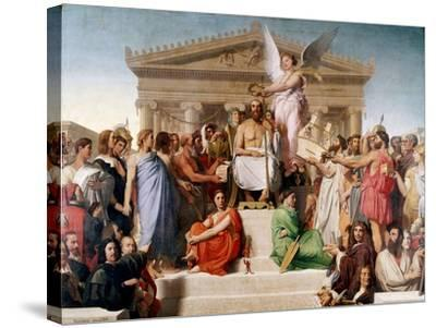 The Apotheosis of Homer, 1827-Jean-Auguste-Dominique Ingres-Stretched Canvas Print