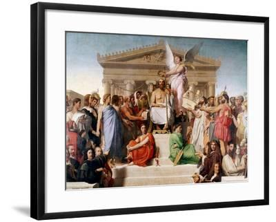 The Apotheosis of Homer, 1827-Jean-Auguste-Dominique Ingres-Framed Giclee Print