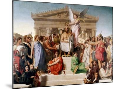 The Apotheosis of Homer, 1827-Jean-Auguste-Dominique Ingres-Mounted Giclee Print