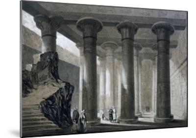 Temple at Esneh, Egypt, 19th Century-JH Allan-Mounted Giclee Print