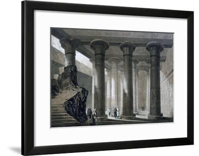 Temple at Esneh, Egypt, 19th Century-JH Allan-Framed Giclee Print
