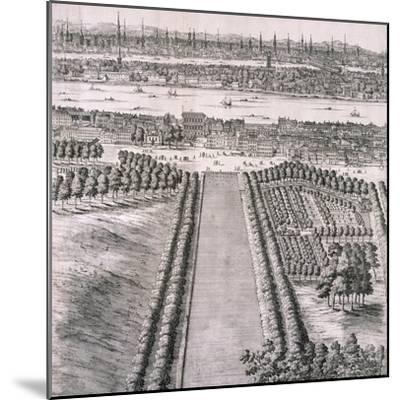 Panoramic View of London, 1720-Johannes Kip-Mounted Giclee Print