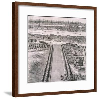 Panoramic View of London, 1720-Johannes Kip-Framed Giclee Print
