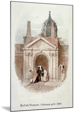 British Museum, Entrance Gate, 1848-James Findlay-Mounted Giclee Print