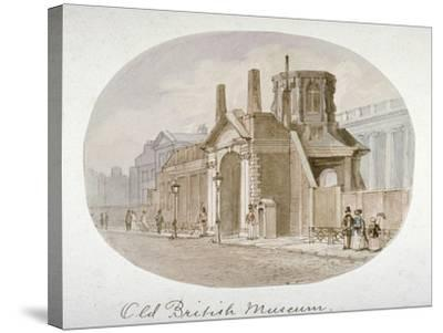 View of the Old British Museum, Bloomsbury, London, 1850-James Findlay-Stretched Canvas Print