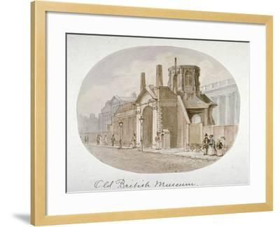 View of the Old British Museum, Bloomsbury, London, 1850-James Findlay-Framed Giclee Print