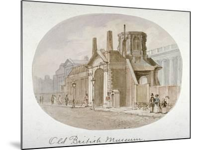 View of the Old British Museum, Bloomsbury, London, 1850-James Findlay-Mounted Giclee Print