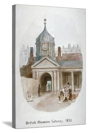 Gateway to the Old British Museum (Montague Hous), Bloomsbury, London, 1850-James Findlay-Stretched Canvas Print