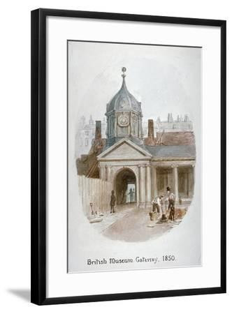 Gateway to the Old British Museum (Montague Hous), Bloomsbury, London, 1850-James Findlay-Framed Giclee Print