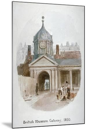 Gateway to the Old British Museum (Montague Hous), Bloomsbury, London, 1850-James Findlay-Mounted Giclee Print