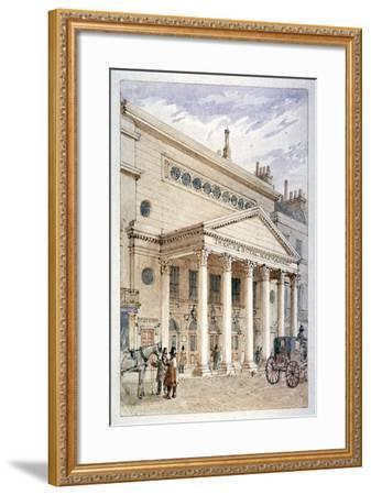 The Theatre Royal, Haymarket, Westminster, London, C1840-James Findlay-Framed Giclee Print