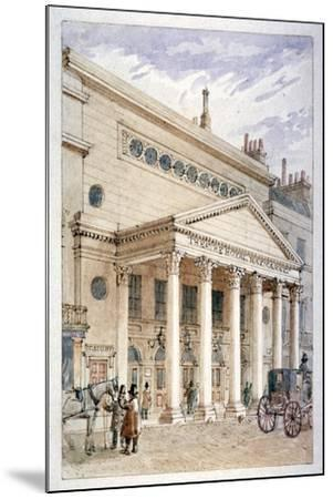 The Theatre Royal, Haymarket, Westminster, London, C1840-James Findlay-Mounted Giclee Print