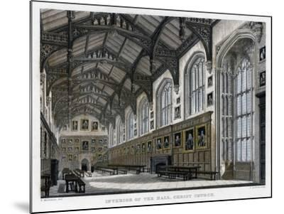 Interior of Christ Church Hall, Oxford University, C1830S-JH Le Keux-Mounted Giclee Print