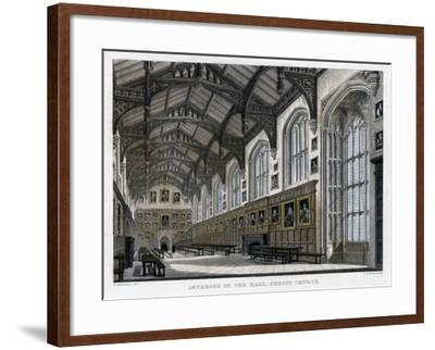 Interior of Christ Church Hall, Oxford University, C1830S-JH Le Keux-Framed Giclee Print