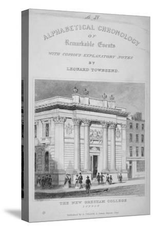 Gresham College, Basinghall Street, City of London, 1845-James Tingle-Stretched Canvas Print
