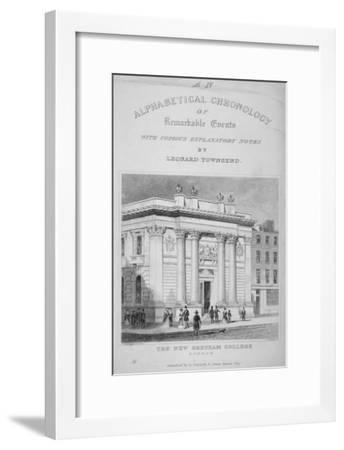Gresham College, Basinghall Street, City of London, 1845-James Tingle-Framed Giclee Print