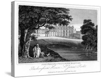 Buckingham House, St James Park, London, 1816-JC Varrall-Stretched Canvas Print