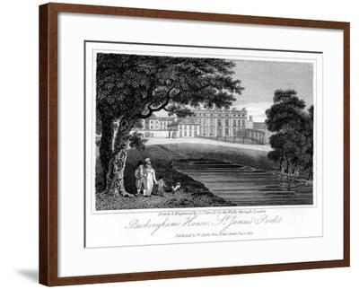 Buckingham House, St James Park, London, 1816-JC Varrall-Framed Giclee Print