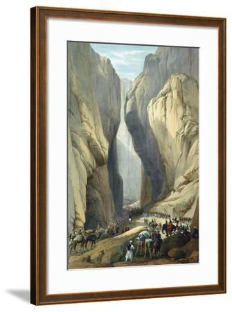 British Army Entering the Bolan Pass from Dadur, First Anglo-Afghan War, 1838-1842-James Atkinson-Framed Giclee Print