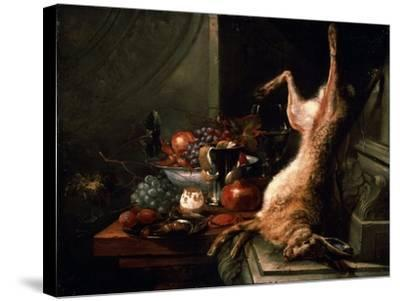 Still Life with a Hare, C1680S-Jan Baptist van Moerkerke-Stretched Canvas Print