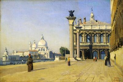 Morning in Venice, 1834-Jean-Baptiste-Camille Corot-Framed Giclee Print