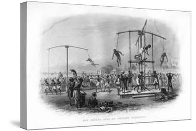 The Churuk Puja or Swinging Ceremony, India, 19th Century-JJ Crew-Stretched Canvas Print