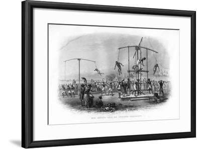 The Churuk Puja or Swinging Ceremony, India, 19th Century-JJ Crew-Framed Giclee Print
