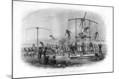 The Churuk Puja or Swinging Ceremony, India, 19th Century-JJ Crew-Mounted Giclee Print