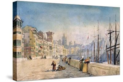 The Port of Genes, 1878-JL Gennato-Stretched Canvas Print
