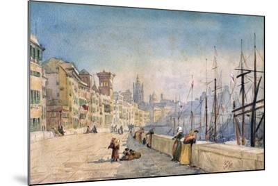 The Port of Genes, 1878-JL Gennato-Mounted Giclee Print