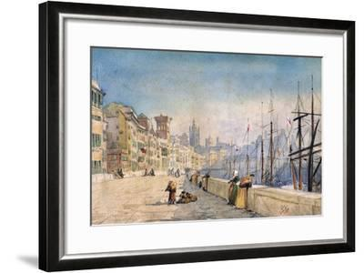 The Port of Genes, 1878-JL Gennato-Framed Giclee Print
