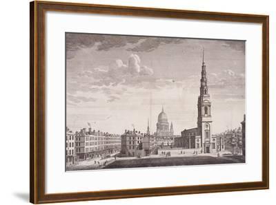 St Bride, London, 1753-James B Allen-Framed Giclee Print