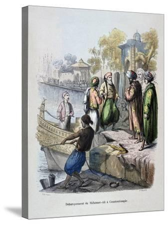 Mahomet Ali Arriving in Constantinople, C1847-Jean Adolphe Beauce-Stretched Canvas Print