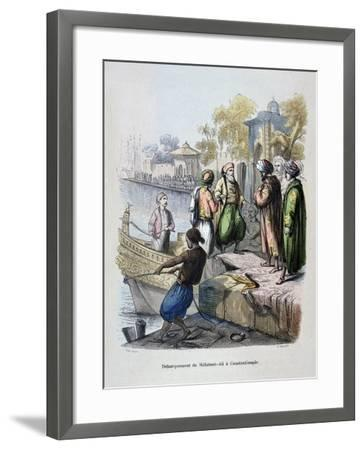 Mahomet Ali Arriving in Constantinople, C1847-Jean Adolphe Beauce-Framed Giclee Print