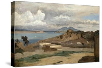 Ischia, Seen from Mount Epomeo, 1828-Jean-Baptiste-Camille Corot-Stretched Canvas Print
