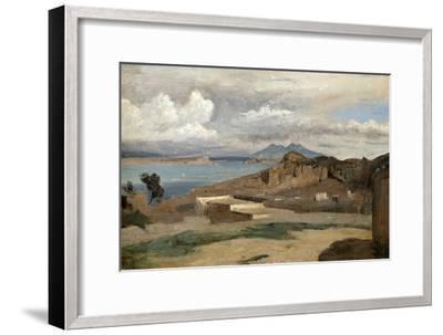 Ischia, Seen from Mount Epomeo, 1828-Jean-Baptiste-Camille Corot-Framed Giclee Print