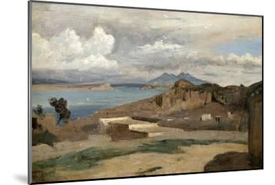 Ischia, Seen from Mount Epomeo, 1828-Jean-Baptiste-Camille Corot-Mounted Giclee Print