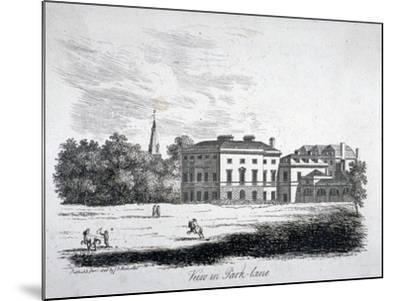 View of Park Lane, Westminster, London, 1808-James Peller Malcolm-Mounted Giclee Print