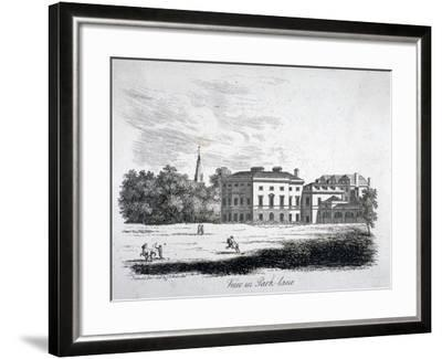 View of Park Lane, Westminster, London, 1808-James Peller Malcolm-Framed Giclee Print