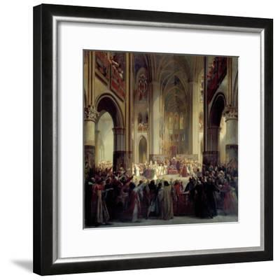 States General of Paris, 1328, Mid 19th Century-Jean Alaux-Framed Giclee Print