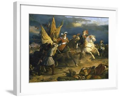 The Battle of Villa Viciosa, 11 December 1710-Jean Alaux-Framed Giclee Print