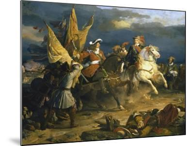 The Battle of Villa Viciosa, 11 December 1710-Jean Alaux-Mounted Giclee Print
