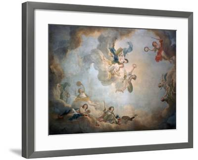Ceiling of Marie Antoinette's Playroom, Chateau De Fontainbleau, C1763-1811-Jean Simon Berthelemy-Framed Giclee Print