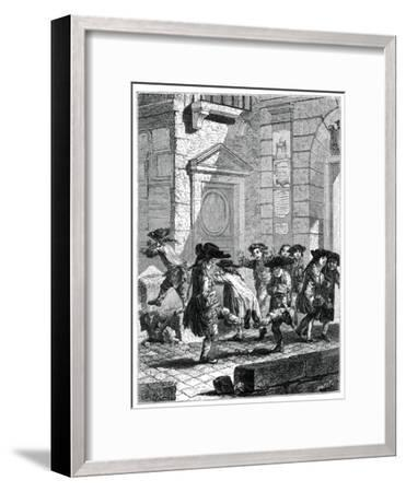 Exit from the College-Jean Baptiste Tilliard-Framed Giclee Print