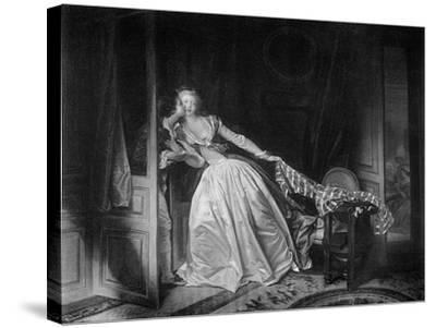 The Solen Kiss, Late 18th Century-Jean-Honore Fragonard-Stretched Canvas Print