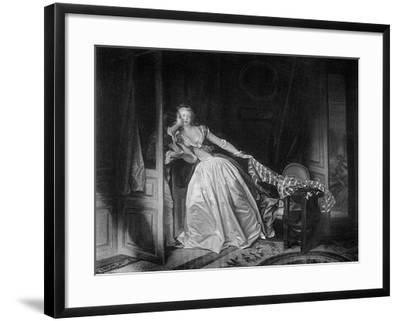 The Solen Kiss, Late 18th Century-Jean-Honore Fragonard-Framed Giclee Print