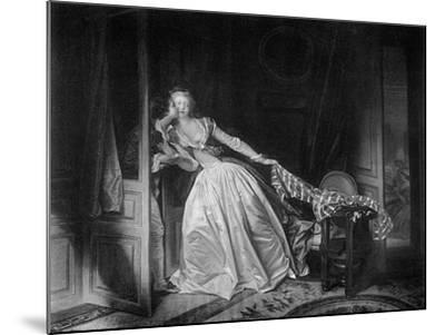 The Solen Kiss, Late 18th Century-Jean-Honore Fragonard-Mounted Giclee Print