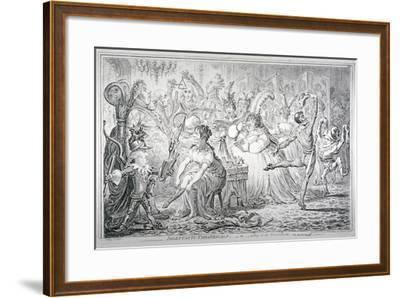 Dilettanti-Theatricals; or a Peep at the Green Room, 1803-James Gillray-Framed Giclee Print