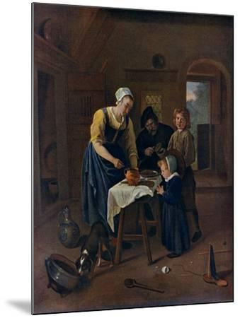 A Peasant Family at Meal-Time ('Grace before Meat), C1665-Jan Steen-Mounted Giclee Print
