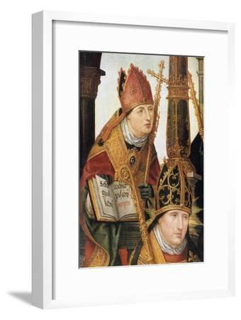 Annunciation (Detail), 1516-1517-Jean Bellegambe-Framed Premium Giclee Print